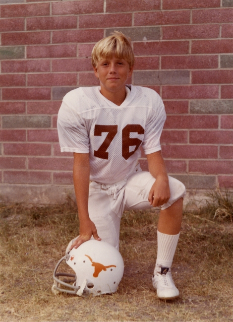 Solo Longhorn, me at age 10